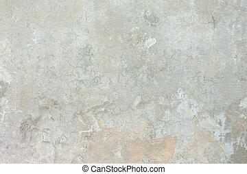 struttura completa, cemento, chiazzato, sfondo beige, grungy