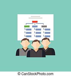 struttura, diagramma, hierarchical-structure, squadra,...