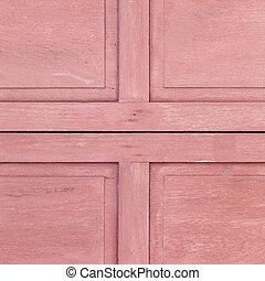 struttura legno, fondo, rosso