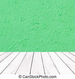struttura legno, gelso, carta, sfondo verde, natale bianco, balcone