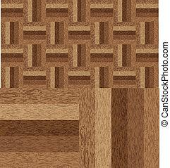 struttura legno, parquet