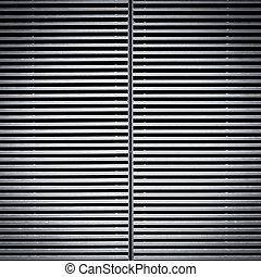 struttura, metallo, porta