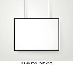 struttura parete, contenuto, vettore, vuoto, pronto, bianco, mockup.