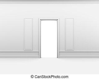 struttura parete, stanza bianca, vuoto