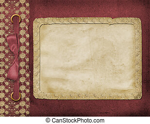 struttura, per, uno, foto, o, invitations., uno, vinous, bow., uno, bello, fondo.