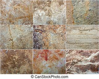 struttura pietra, decorativo, marmo, set, interno