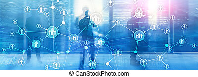struttura, relazione, umano, amministrazione, organizzazione, virtuale, risorse, hr, persone, doppio, media, schermo, exposure., mescolato