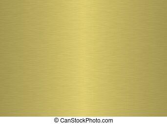 struttura, spazzolato, oro