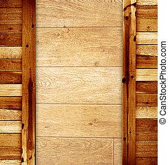 struttura, -, vecchio, cartoline legno