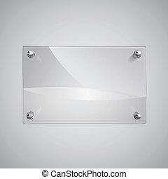 struttura, vuoto, metallo, chiodi, vetro