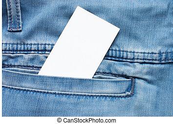 struttura, vuoto, scheda, jean, tasca