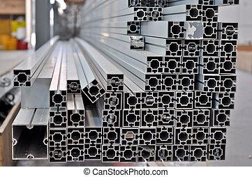 strutturale, profili, alluminio, pila