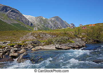 Stryn in Norway - View of the beautiful nature of Stryn,...