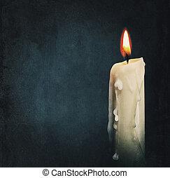 strzał, właśnie, płonący, odizolowany, czarnoskóry, nie, świeca, black., na