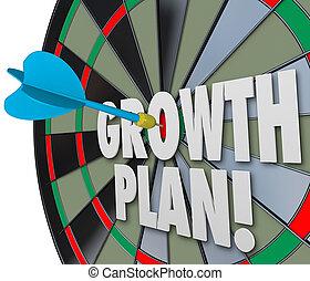 strzałka, celowanie, gol, handlowy, zbyt, towarzystwo, wyniki, ulepszenie, wzrastać, wzrost, deska, słówko, cel, organizacja, misja, cel, albo, plan
