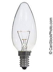 strzyżenie, jarzący się, lampa, tło, ścieżka, biały