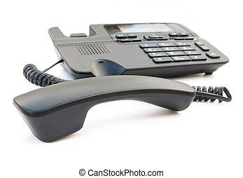 strzyżenie, telefon, do góry, czarnoskóry, odbiorca, zamknięcie, ścieżka