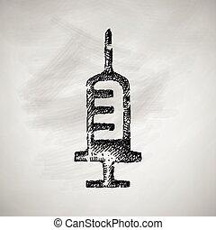 strzykawka, ikona