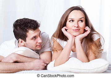 Stubborn woman and loving man - A stubborn confident woman ...