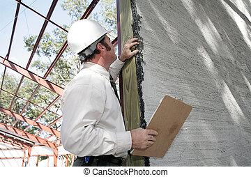 stuc, bulding, incomplet, inspection