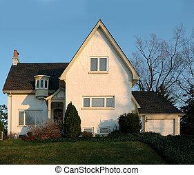 stucco, 집, 에서, 미국