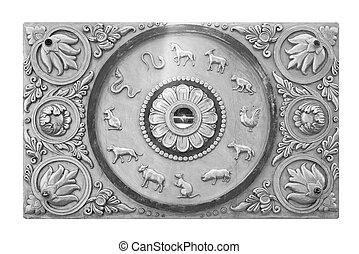 stucco, carvings