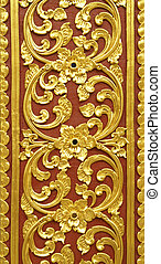 Stucco carvings - The gold stucco design of native thai ...