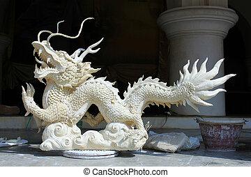 Stucco dragons