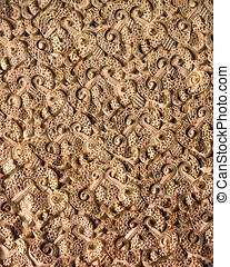 stucco, -, floral, paterns