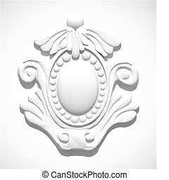 stucco, moulding., vector