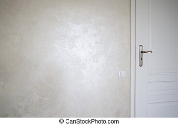 Stucco on the wall