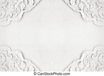 stucco on white wall