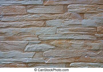 Stucco whitewash old brickwork wall retro background