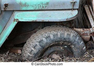 stuck - tire stuck