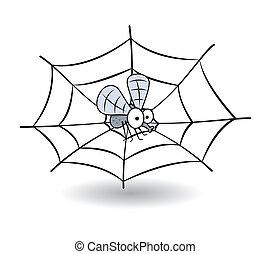 stucked, divertente, ape, web ragno