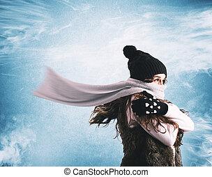 studený, zima