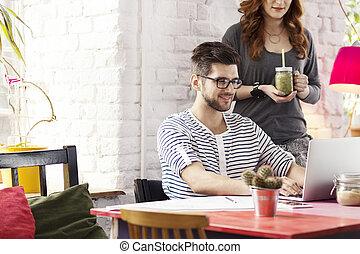 studenci, gmach, towarzystwo, startup