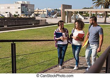 studenci, grupa, campus