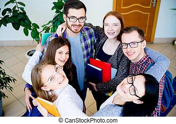 studenci, grupa, kolegium