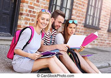 studenci, grupa