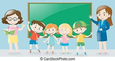 studenci, klasa, nauczycielstwo