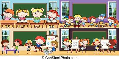 studenci, klasa, temat