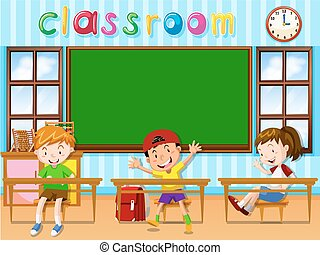 studenci, klasa, trzy