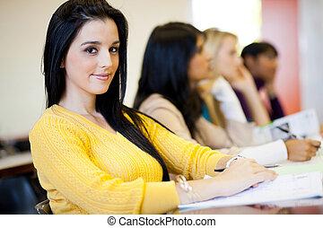 studenci, klasa, uniwersytet, posiedzenie