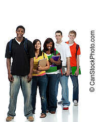 studenci, multicultural, kolegium