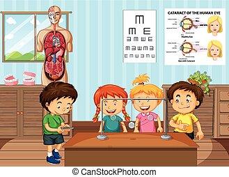 studenci, nauka, klasa, nauka
