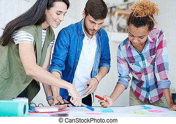studenci, plan planistyczny, grupa