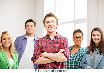 studenci, szkoła, grupa