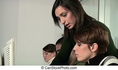studenci, szkoła nauczyciel