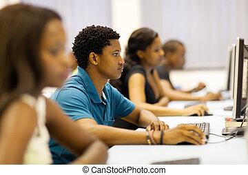 studenci, uniwersytet, afrykanin